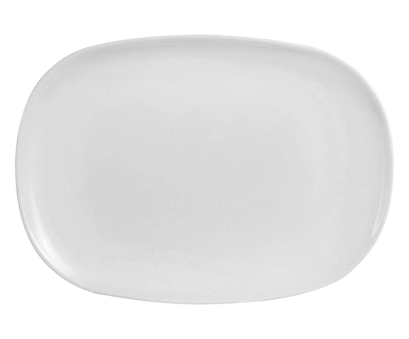 Prato para Servir Sweet Branco - 35X24cm | Westwing.com.br