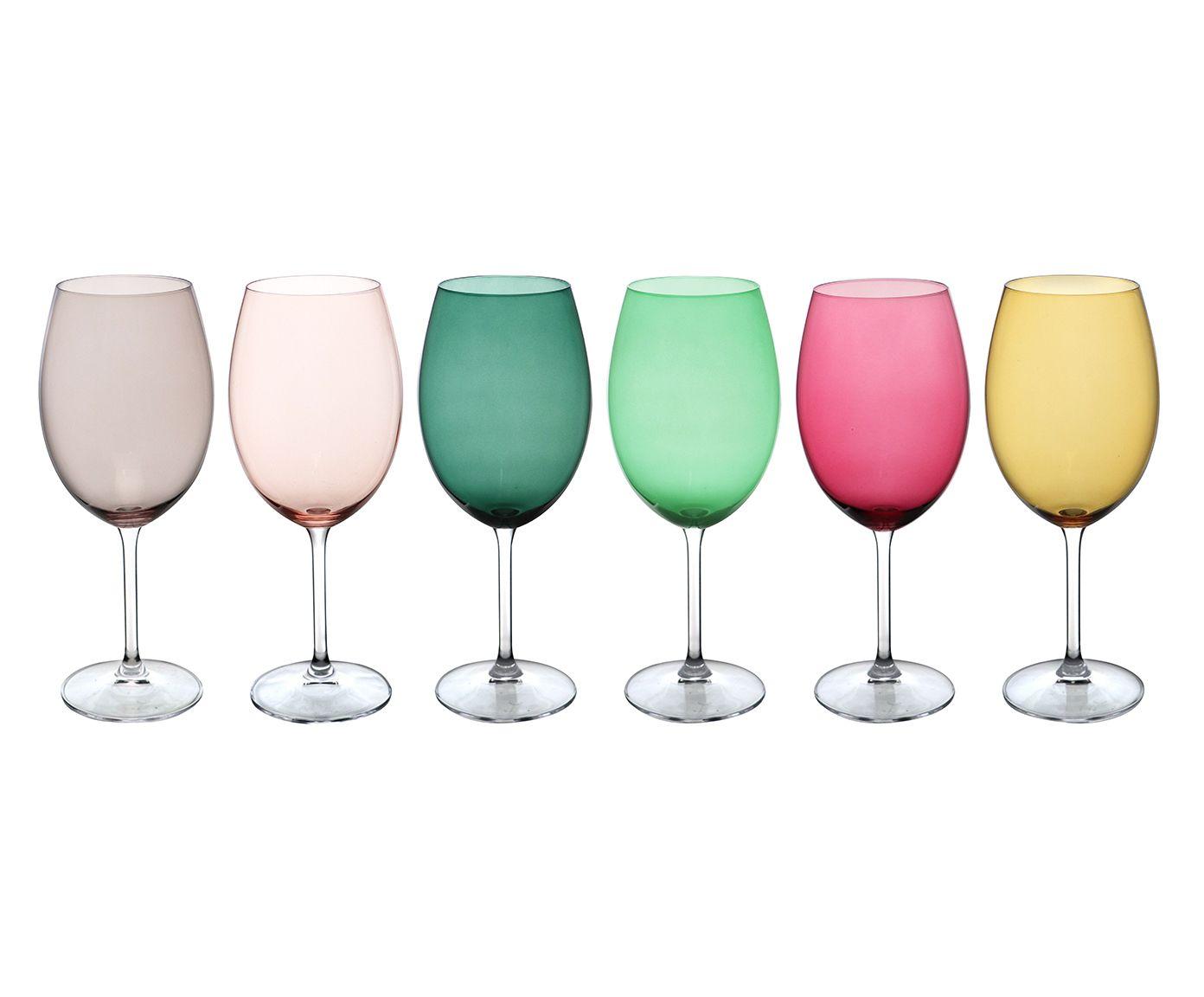 Jogo de Taças em Cristal Ecológico para Água Gastro Colors - 580ml | Westwing.com.br