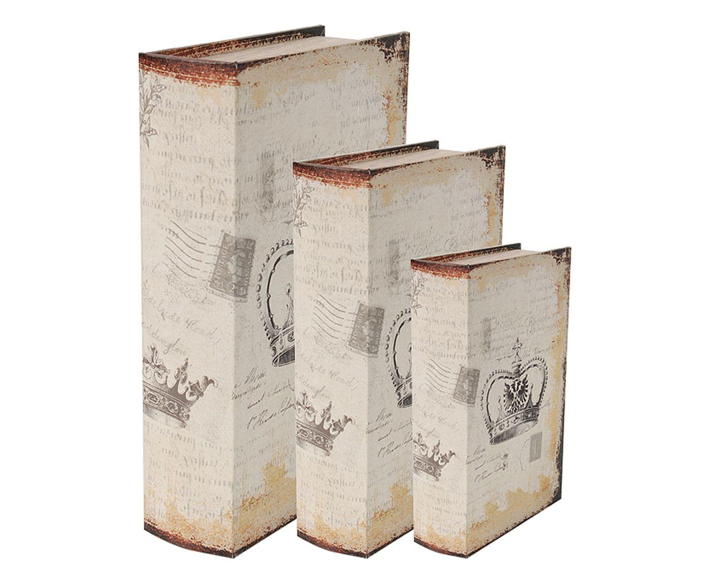 Jogo de Book Boxes Kingdom One | Westwing.com.br