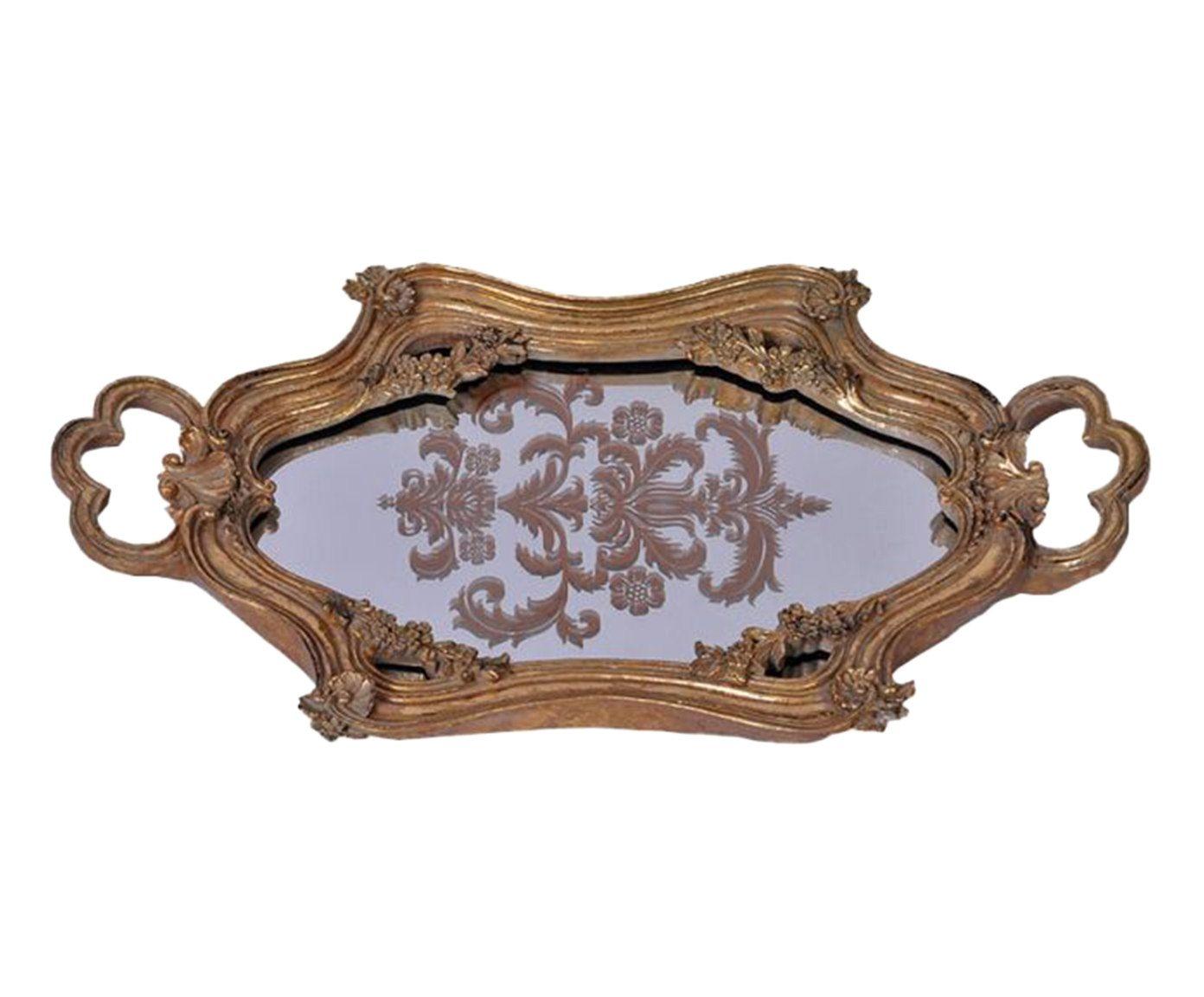 Bandeja Decorativa Golden Deluxe - 40X2X22cm | Westwing.com.br