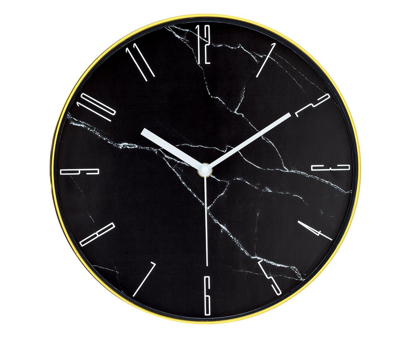Relógio de Parede Potengy Preto - 30X30cm   Westwing.com.br
