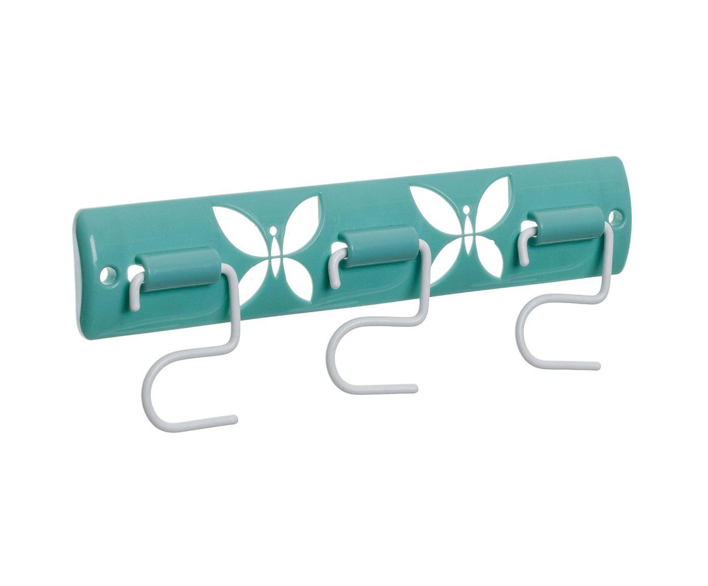 Porta-Vassouras Borboletas Branco - 25X9,5X2,5cm | Westwing.com.br