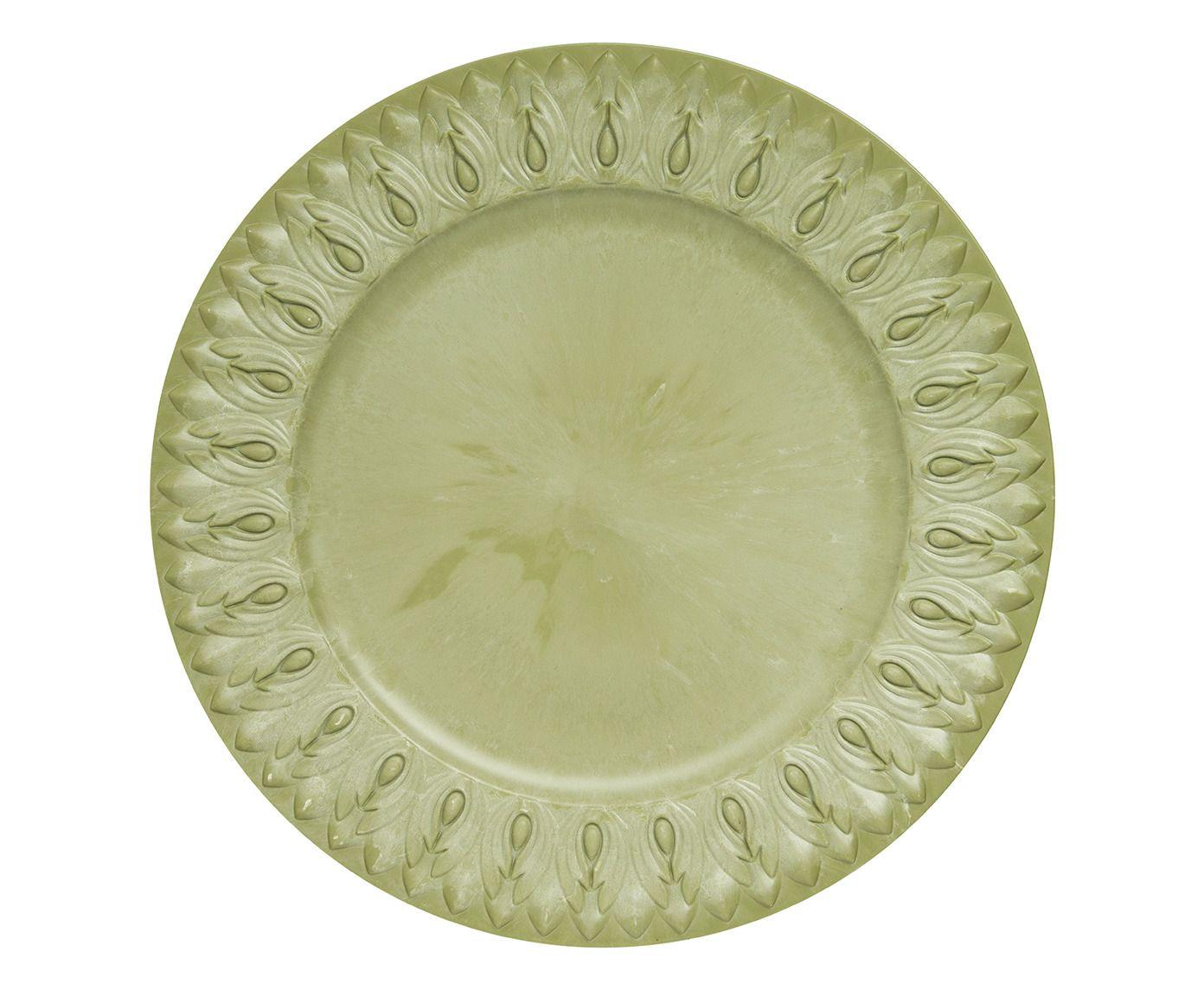 Sousplat Greco Jônico Verde Wasabi - 36cm | Westwing.com.br