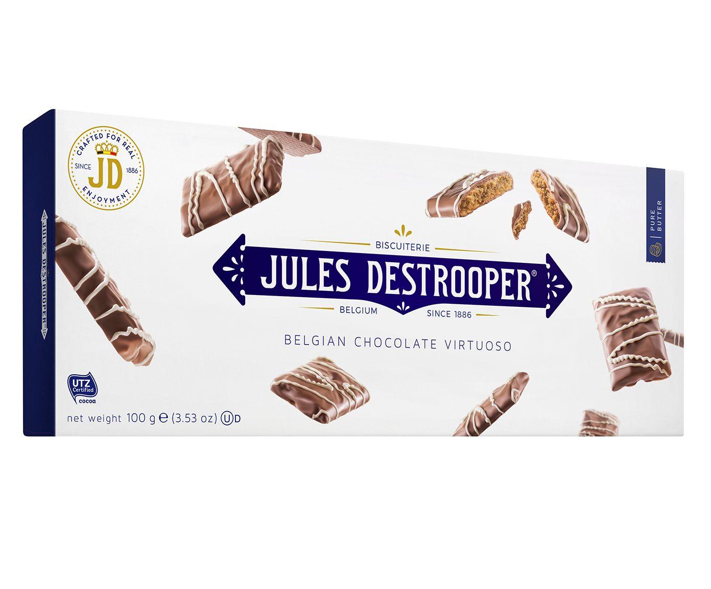 Biscoito Belga Jules D. Belgagian Chocolate Virtuoso - 100G   Westwing.com.br
