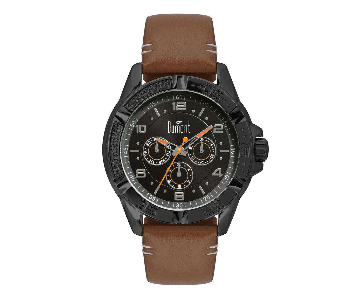 Relógio Dumont Preto e Marrom | Westwing.com.br