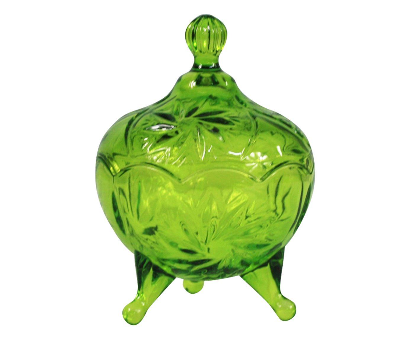 Pote Decorativo Finny Verde - 10X14X10cm | Westwing.com.br