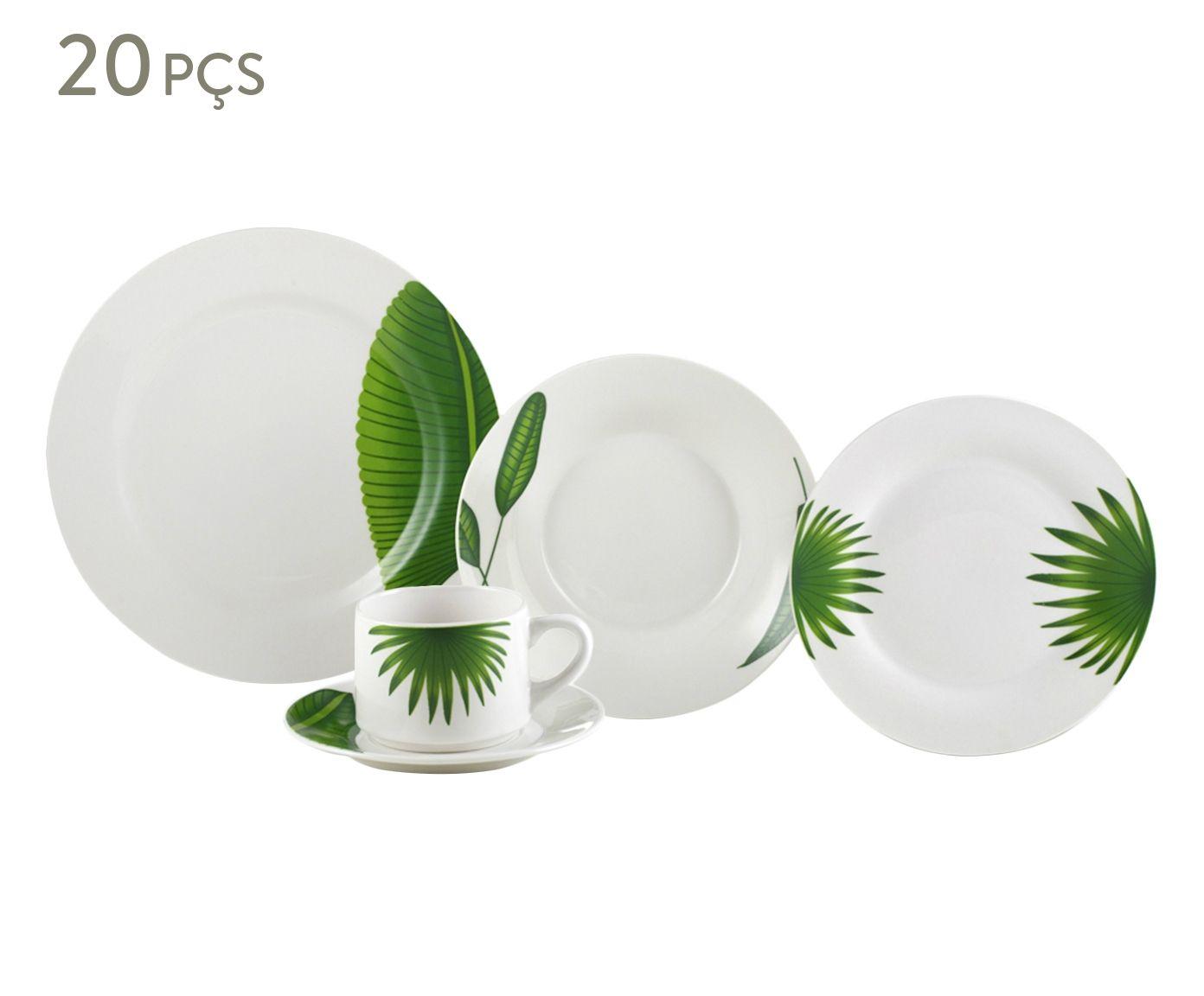 Jogo de Jantar em Porcelana Leaves - 04 Pessoas   Westwing.com.br