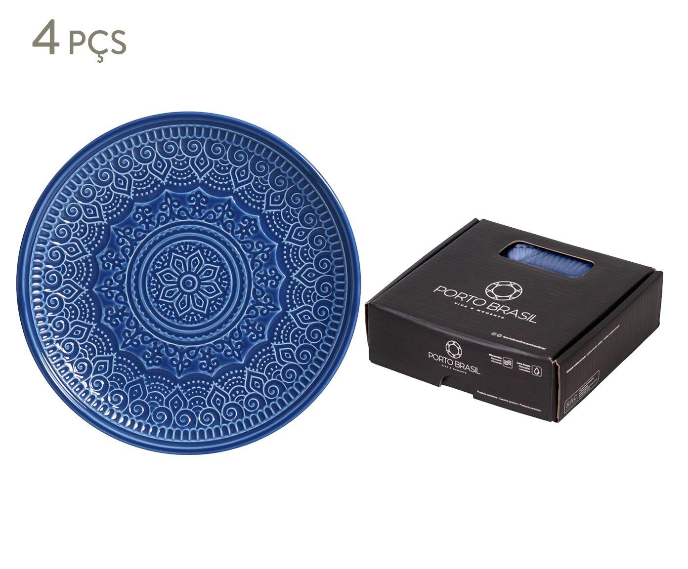 Jogo de Pratos para Sobremesa Agra Azul Navy - 20cm | Westwing.com.br