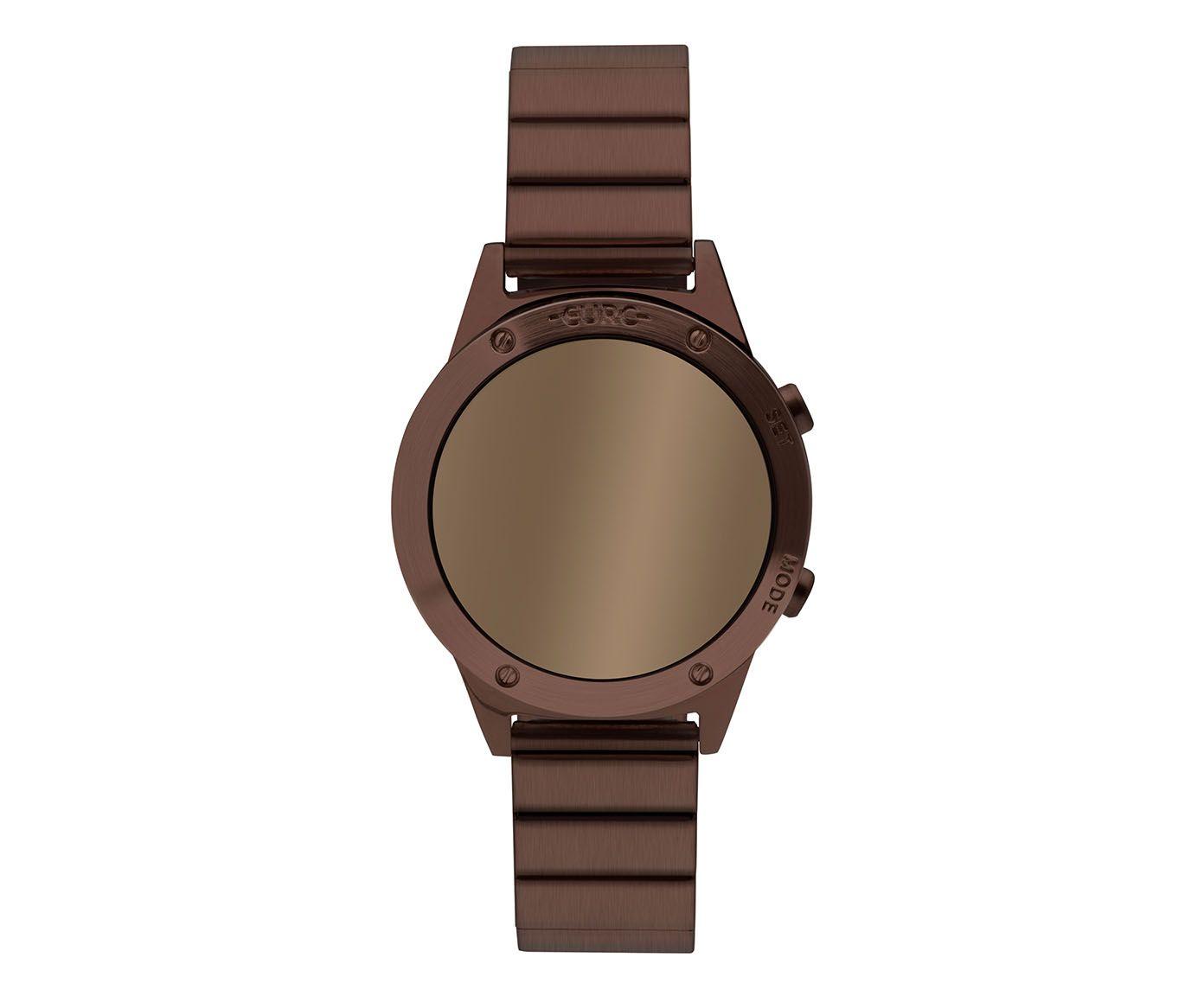 Relógio Digital Fashion Fit Reflexos Euro Marrom | Westwing.com.br