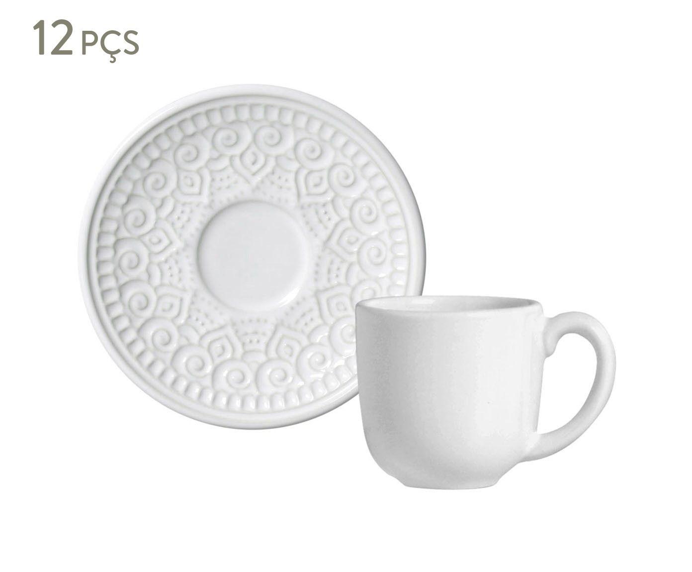 Jogo de Xícaras para Café com Pires Agra Branco - 112ml | Westwing.com.br