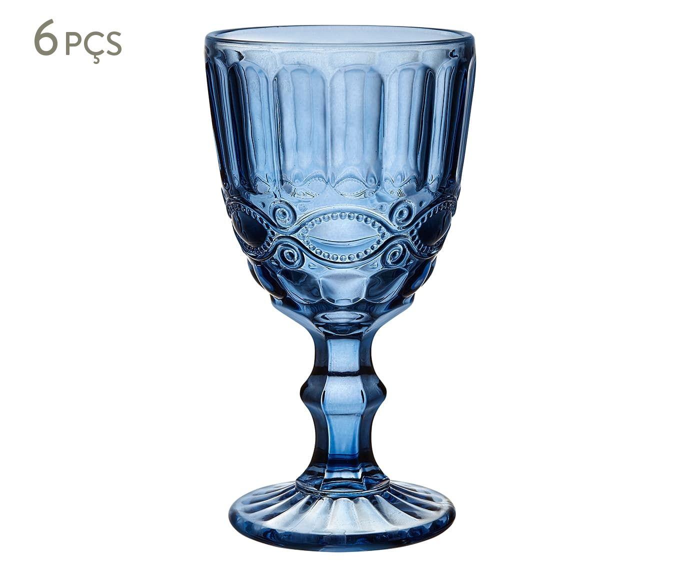 Jogo de Taças Ilawi Azul - 320ml   Westwing.com.br
