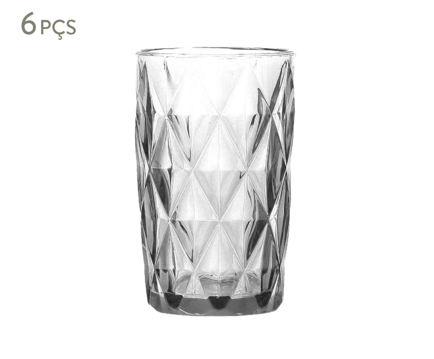 Jogo de Copos Long Drink Diamond Transparente - 340ml | Westwing.com.br