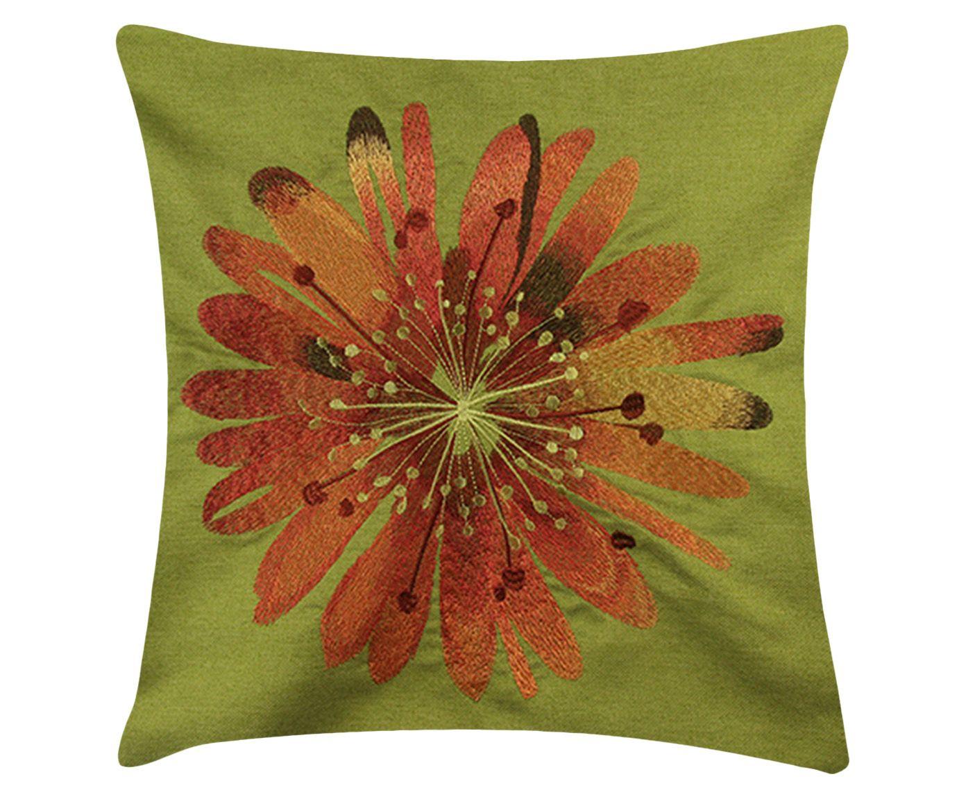 Capa de Almofada Flower Verde Claro - 45X45cm | Westwing.com.br