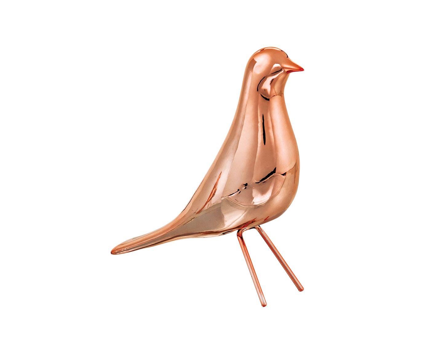 Adorno Pássaro Hermi Dourado Rosê - 6X18X17,5cm   Westwing.com.br