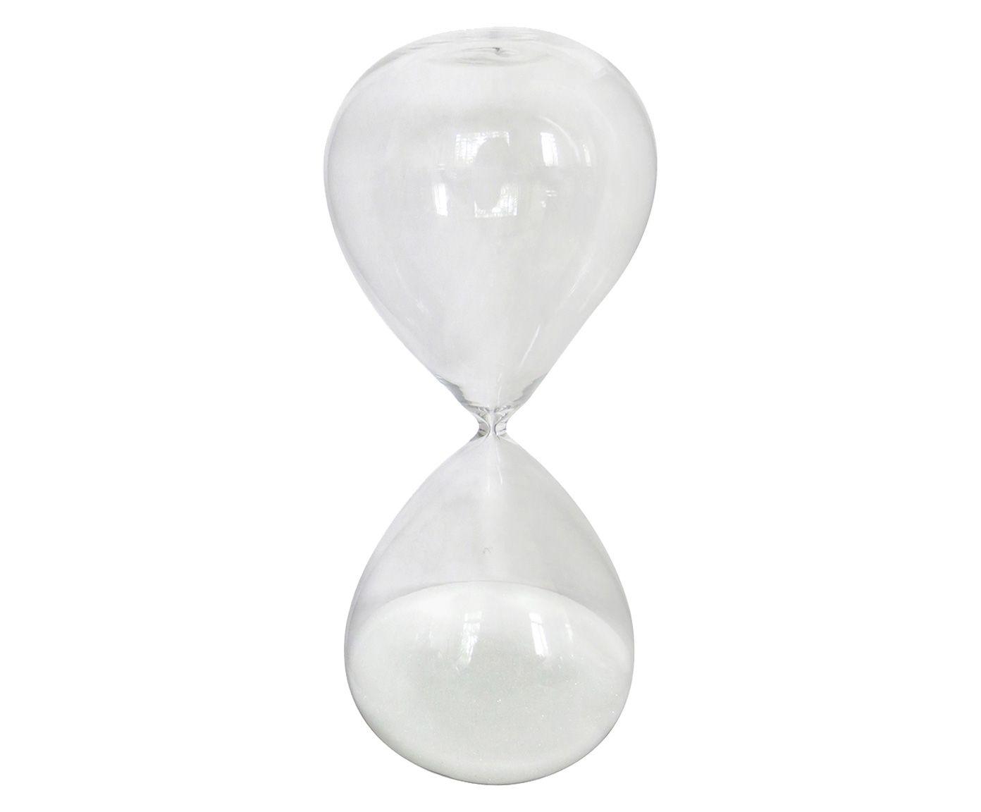 Ampulheta Branca 15 Minutos - 8cm   Westwing.com.br