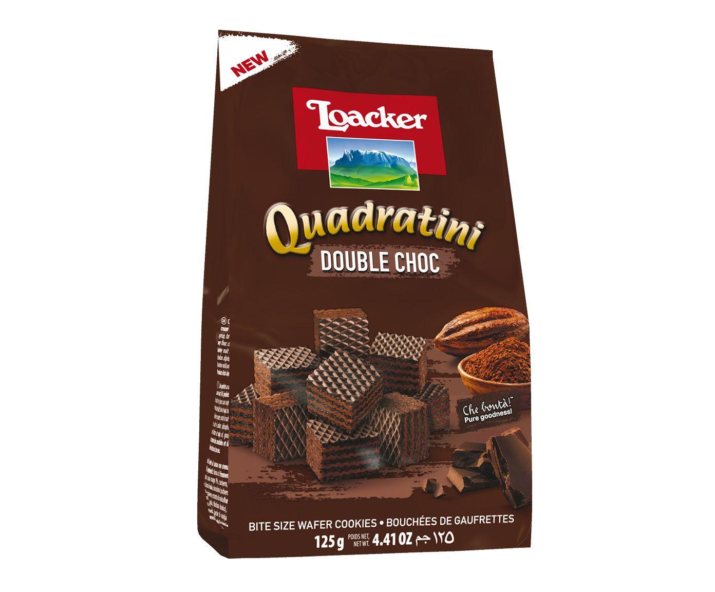 Biscoito Australiano Loacker Quadratini Double Choc - 125G | Westwing.com.br