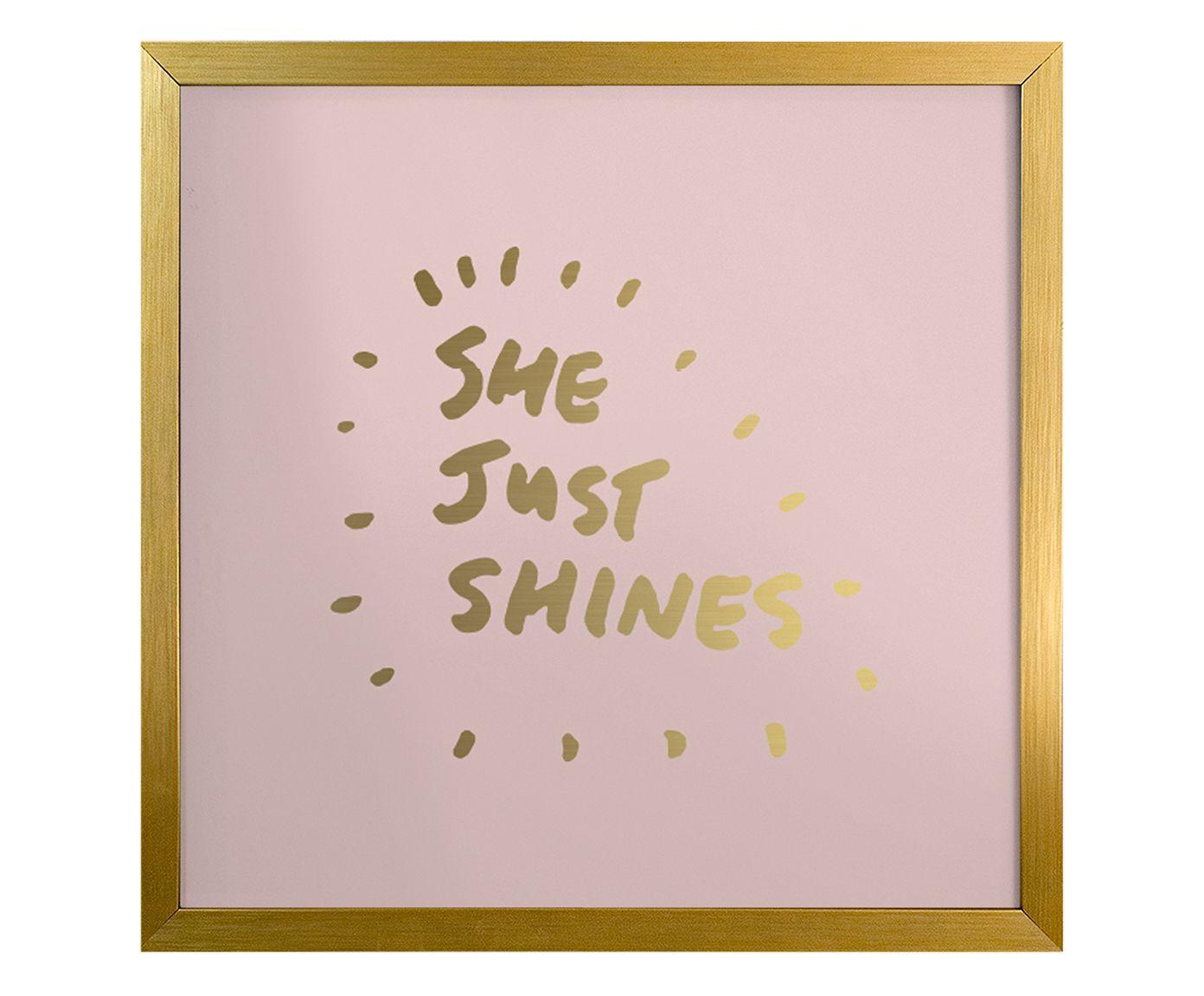 Quadro She Just Shines - 23X23cm | Westwing.com.br