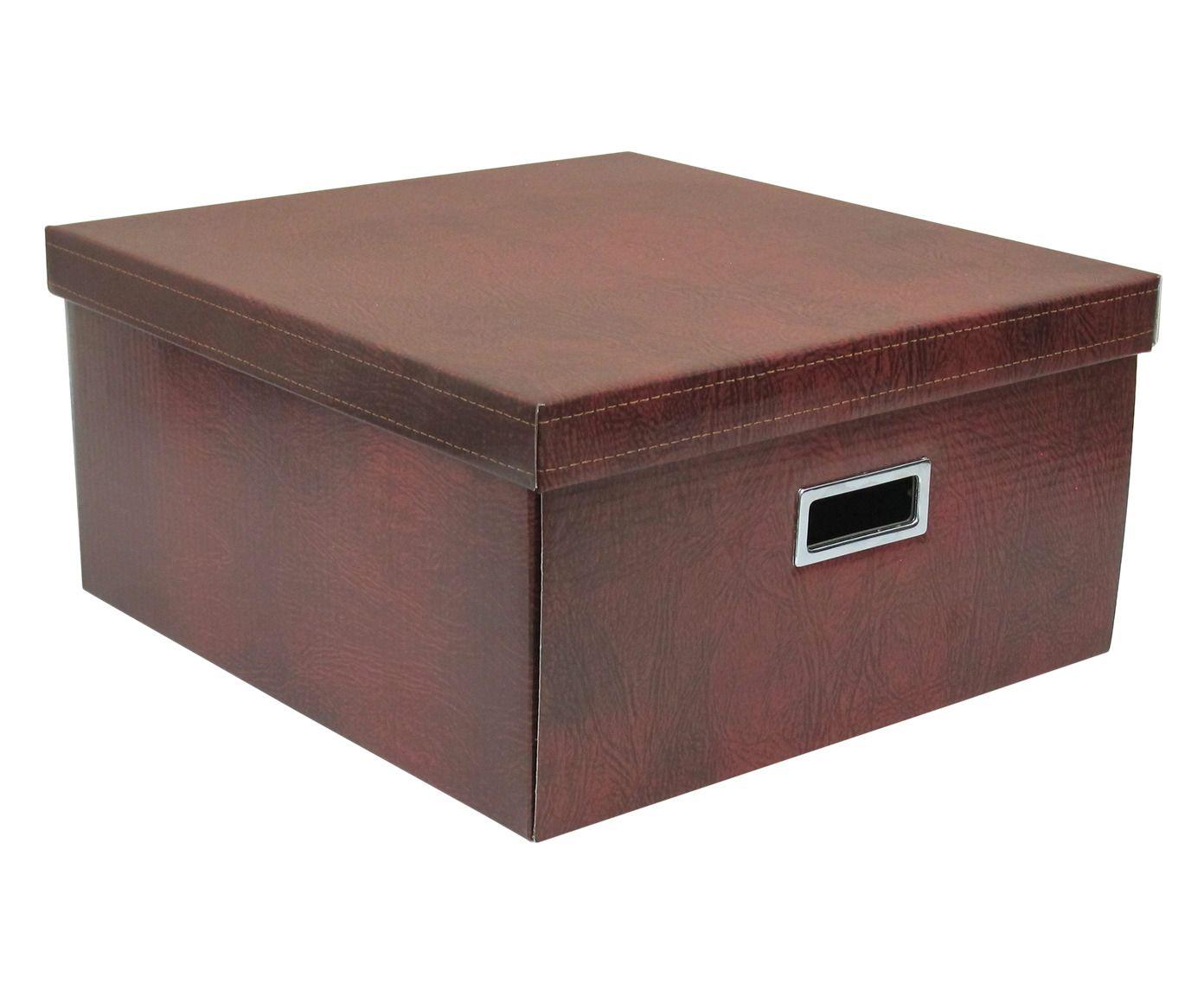 Caixa Organizadora Carmi Marrom - 40X20X40cm | Westwing.com.br