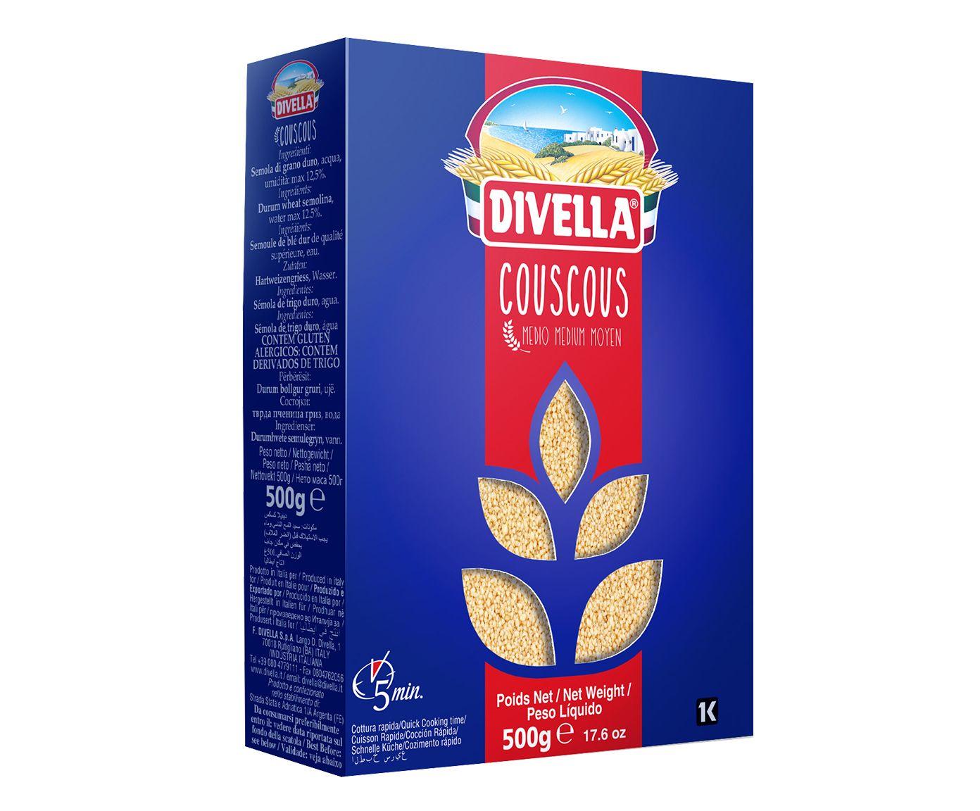 Couscous Divella Sêmola - 500G   Westwing.com.br