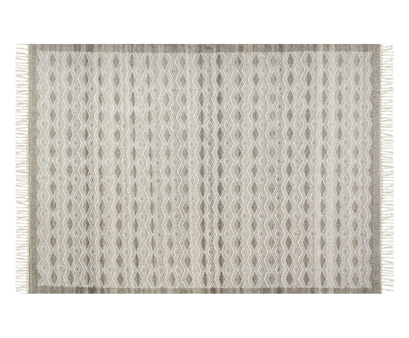 Tapete Indiano com Franja Nordic Taupe - 150X200cm | Westwing.com.br