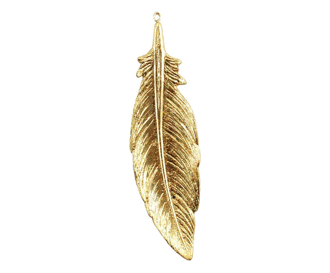 Adorno Pena Tai Dourado - 5,5X19,5X1,5cm | Westwing.com.br