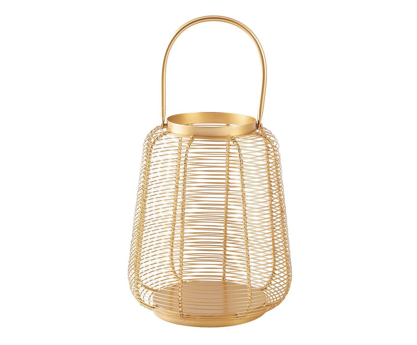 Lanterna Gamil Dourada - 27,5X23cm   Westwing.com.br