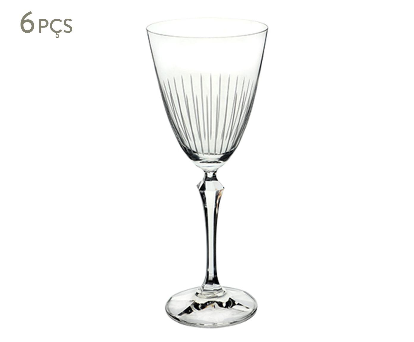 Jogo de Taças para Água em Cristal Ecológico Elizabeth - 350ml   Westwing.com.br