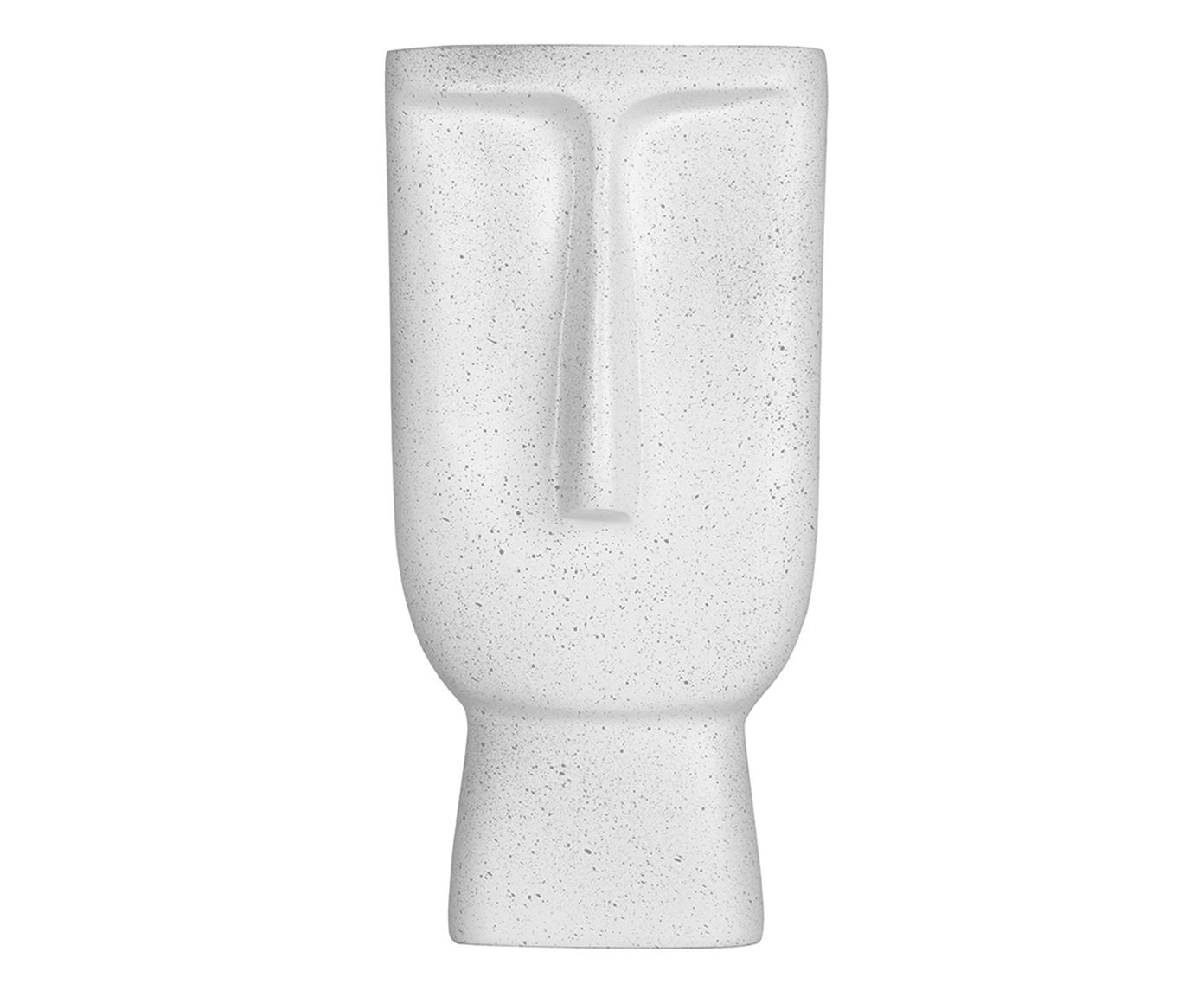 Vaso Face Branco - 38X19X11cm   Westwing.com.br