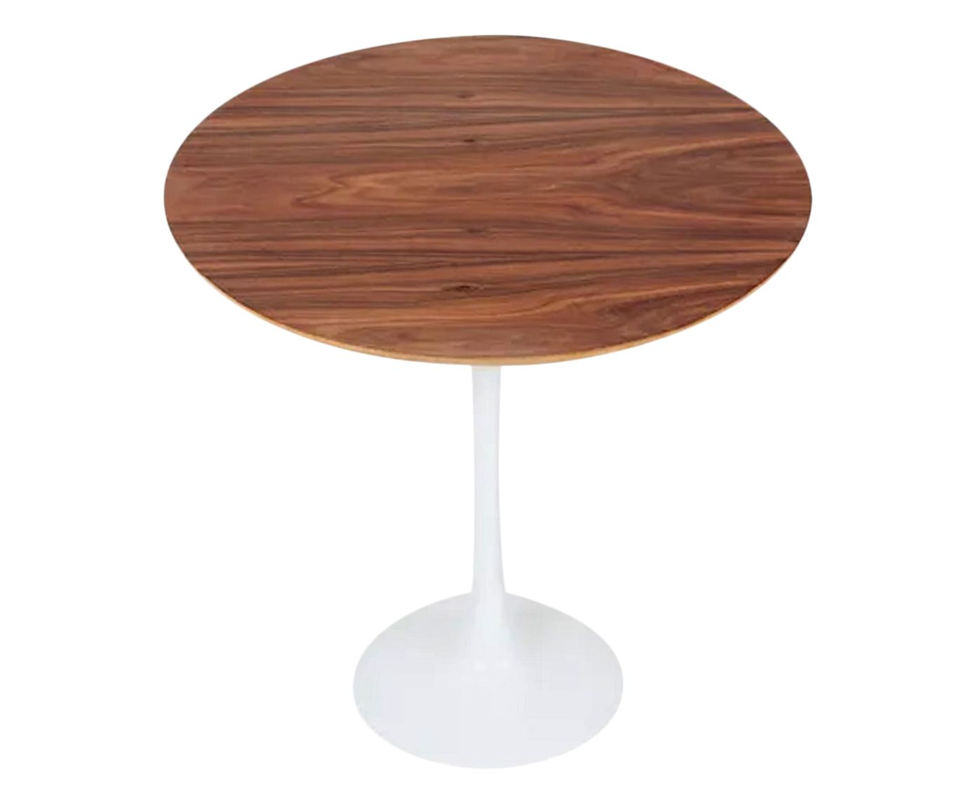 Mesa Lateral Tulipa Imbuia Round Branca - 51X52cm | Westwing.com.br