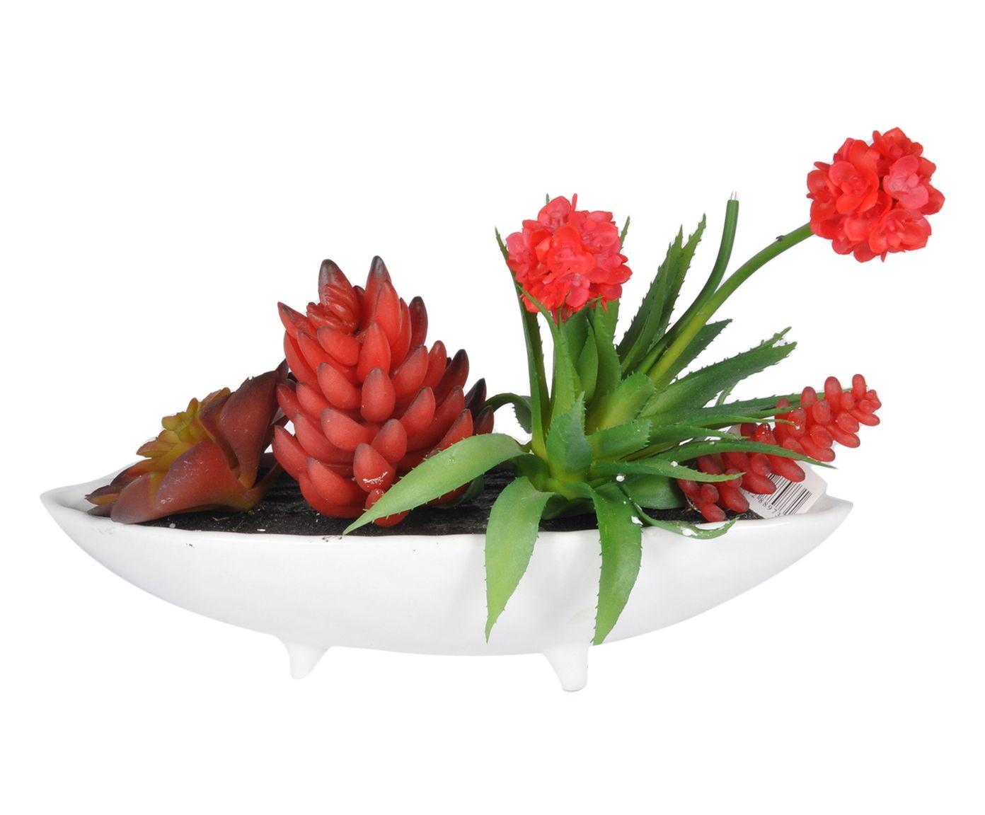 Planta Permanente com Vaso Maurice - 31X28X19cm | Westwing.com.br