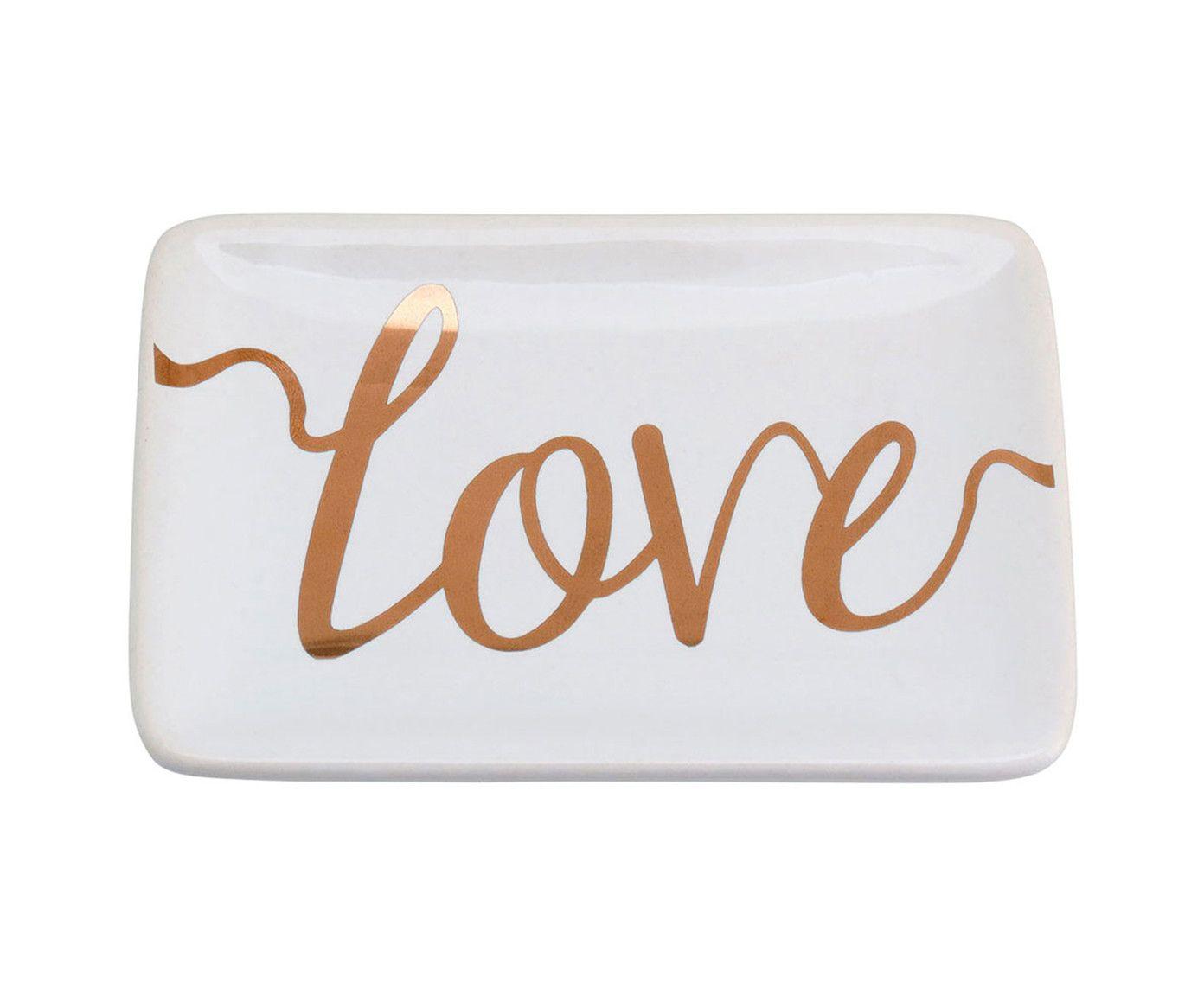 Prato Decorativo Love - 10X1,5X7cm | Westwing.com.br