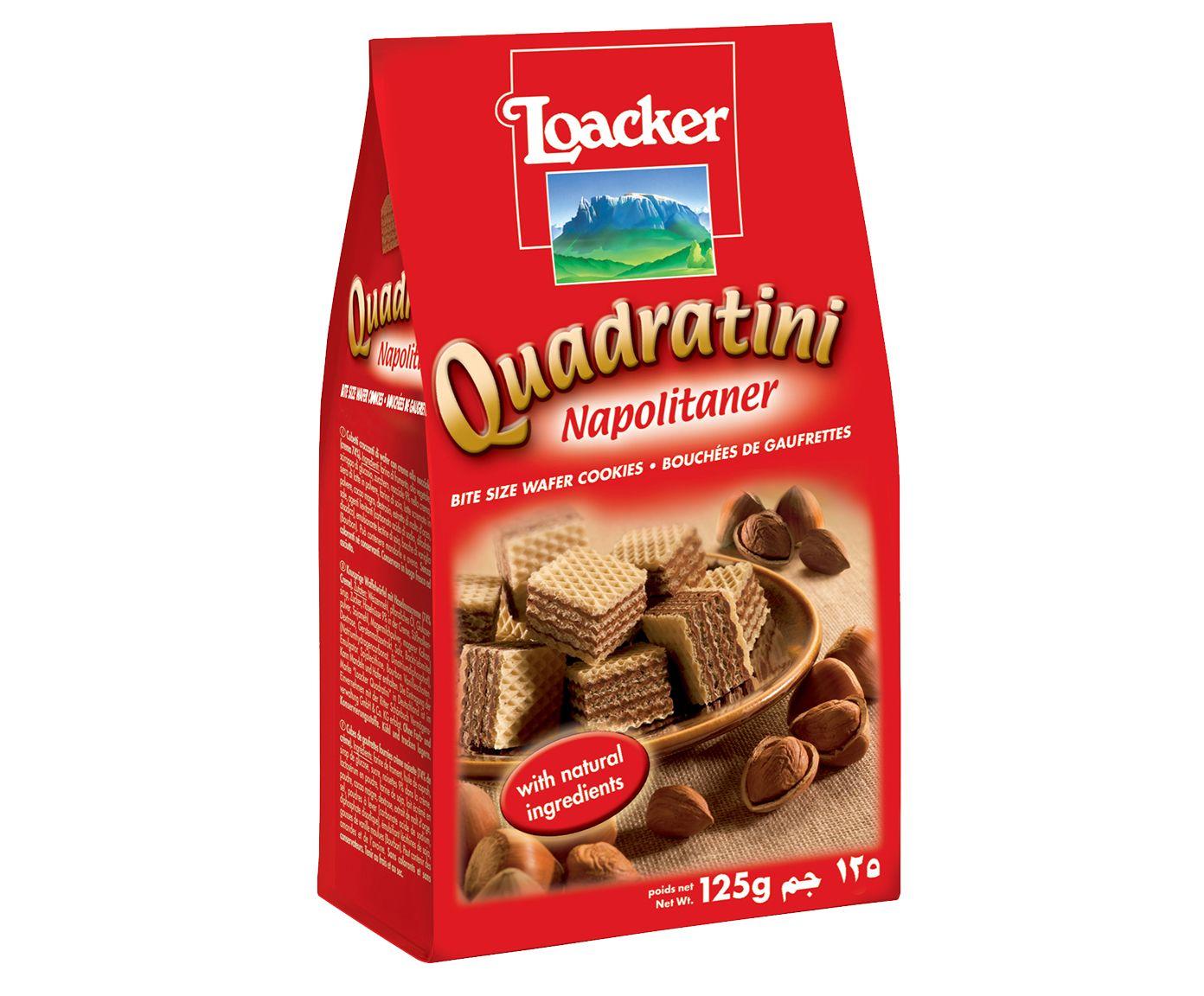 Biscoito Australiano Loacker Quadratini Napolitaner Avelã - 125G | Westwing.com.br