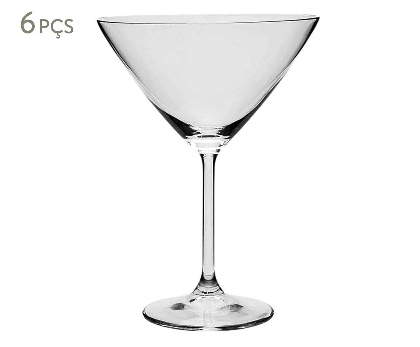 Jogo de Taças para Martini em Cristal Ecológico Gastro - 280ml   Westwing.com.br