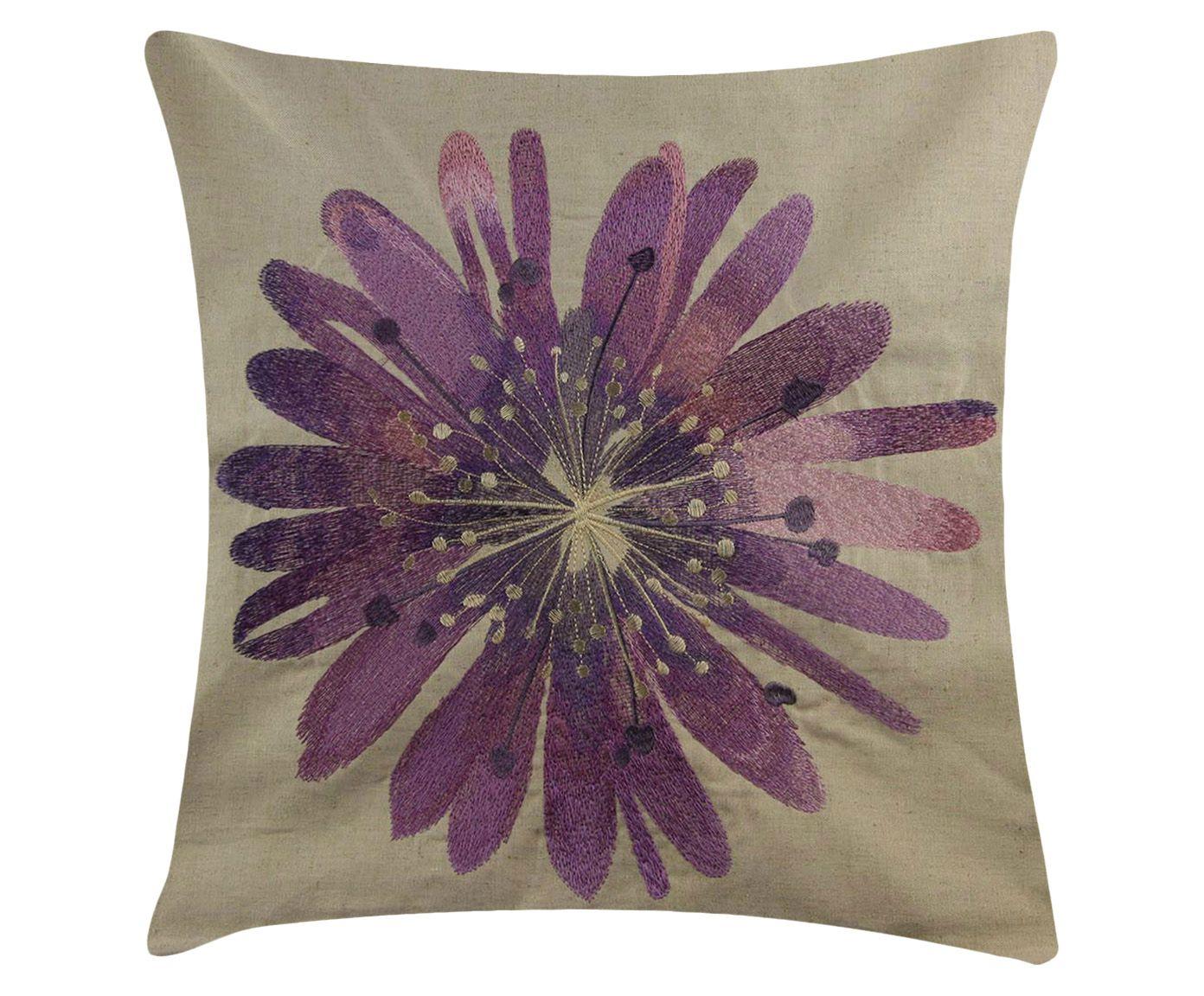 Capa de Almofada Flower Violeta - 45X45cm | Westwing.com.br