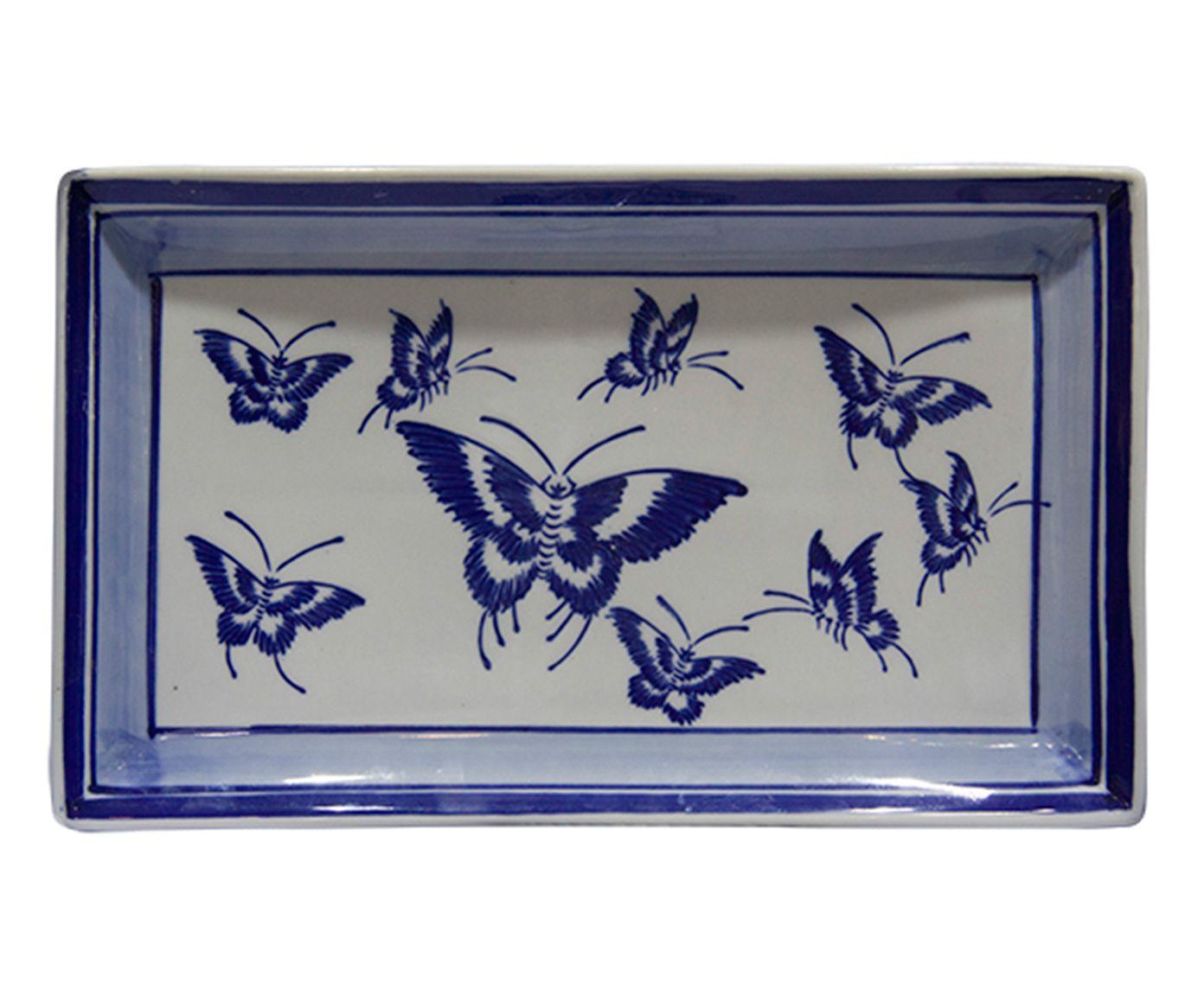 Bandeja Decorativa Papillons - 33X3cm | Westwing.com.br