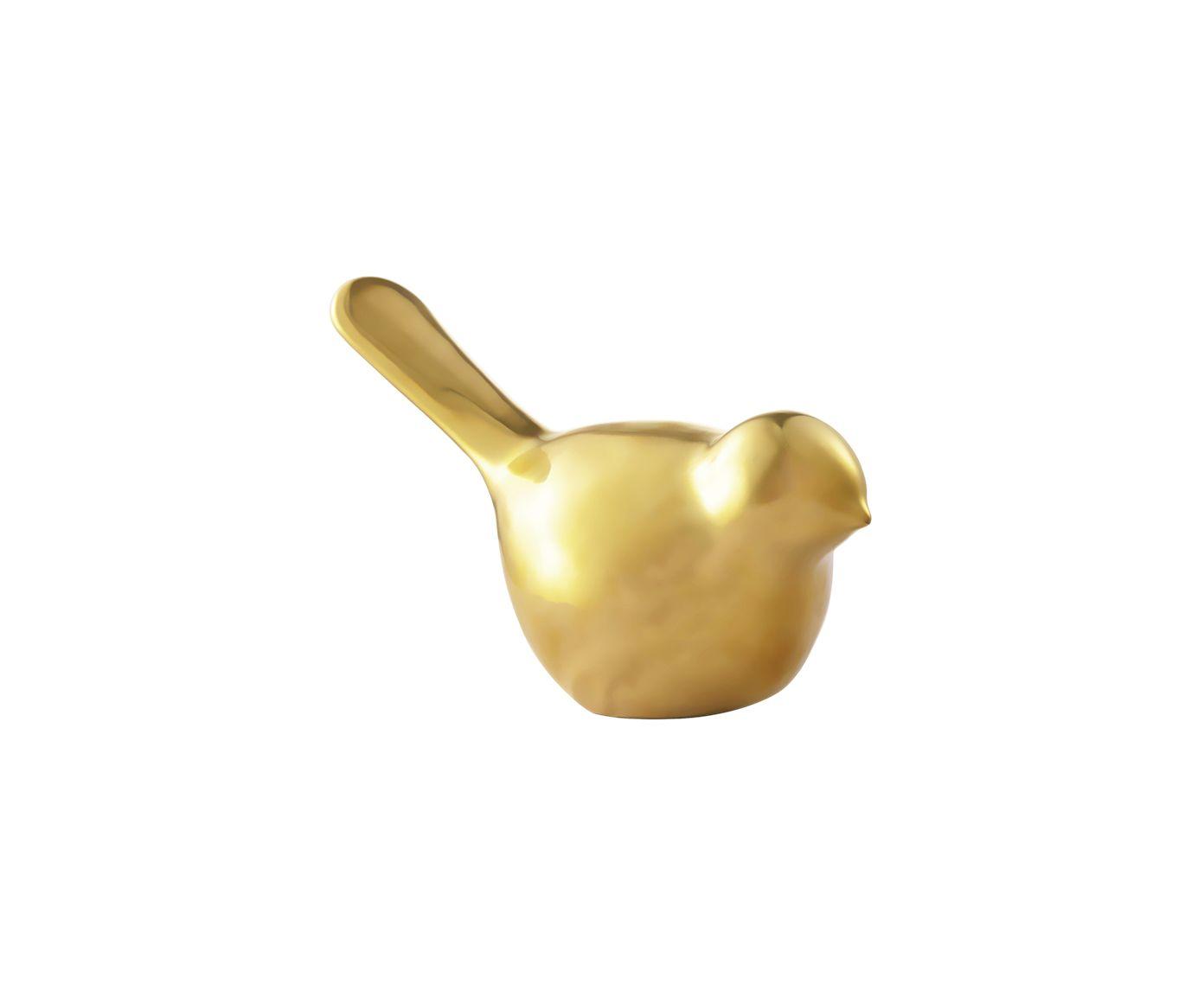 Jogo Adornos Passarinhos - Dourado | Westwing.com.br