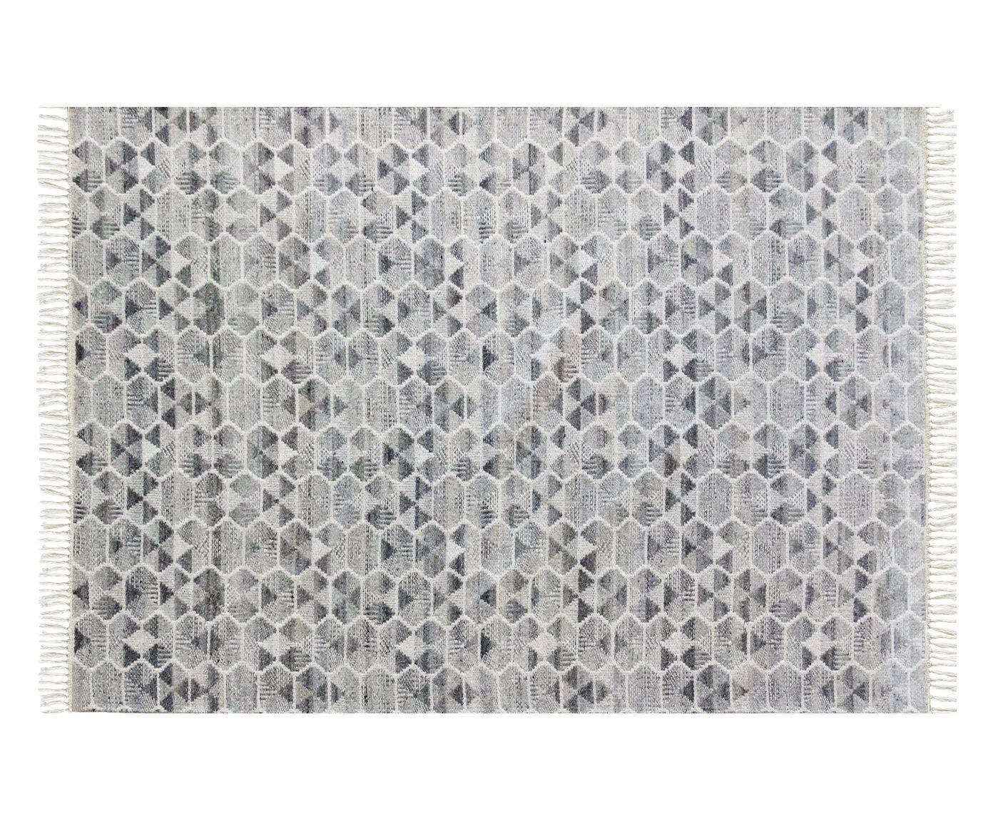 Tapete Indiano com Franja Nordic Cinza - 150X200cm | Westwing.com.br