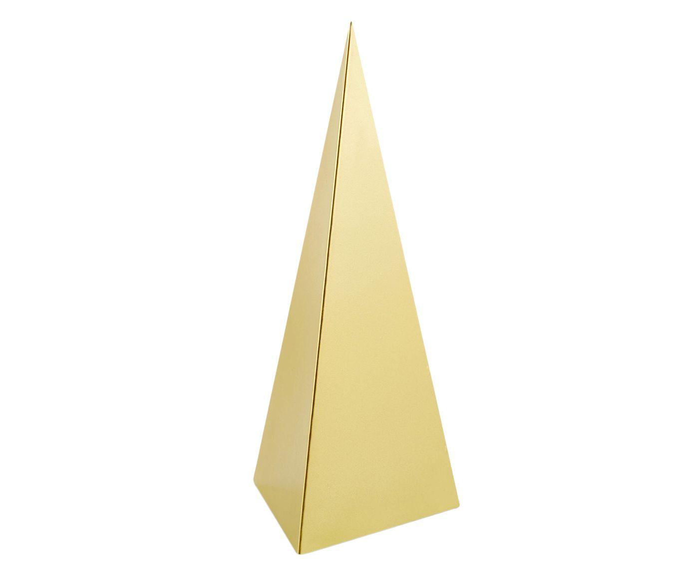Adorno Pirâmide Jassy Dourada - 13,5X30cm | Westwing.com.br