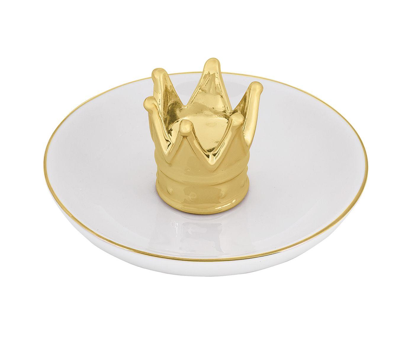 Prato para Joias Coroa Dourado - 12cm | Westwing.com.br