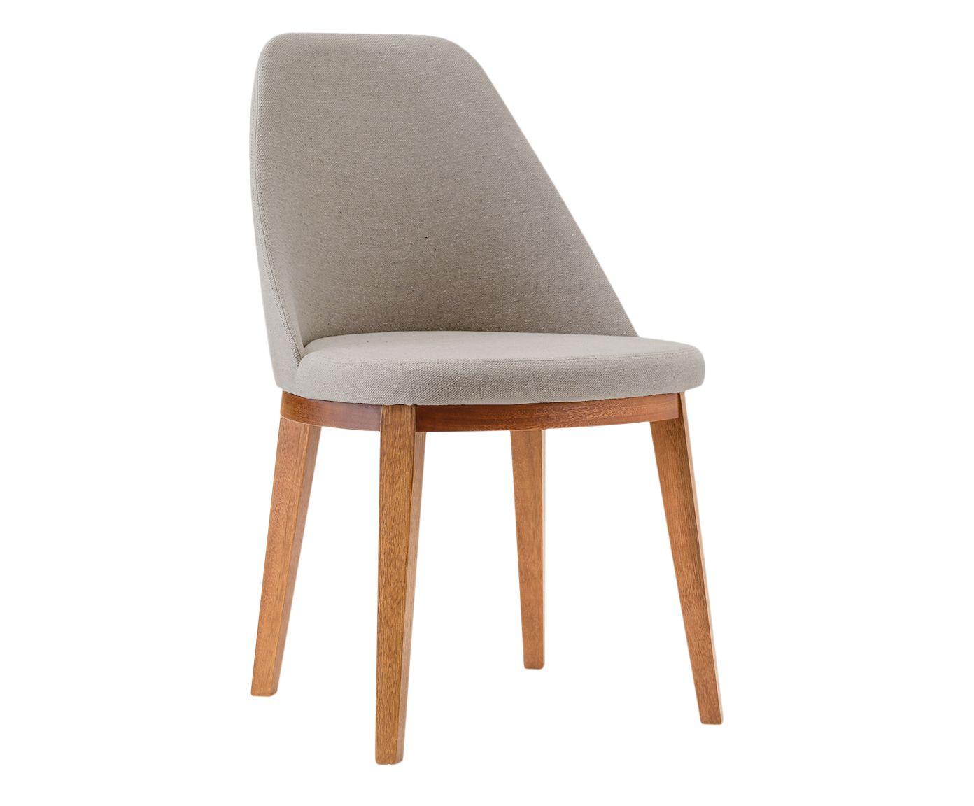 Cadeira em Linho Lisa Natural - 55X86X53cm   Westwing.com.br