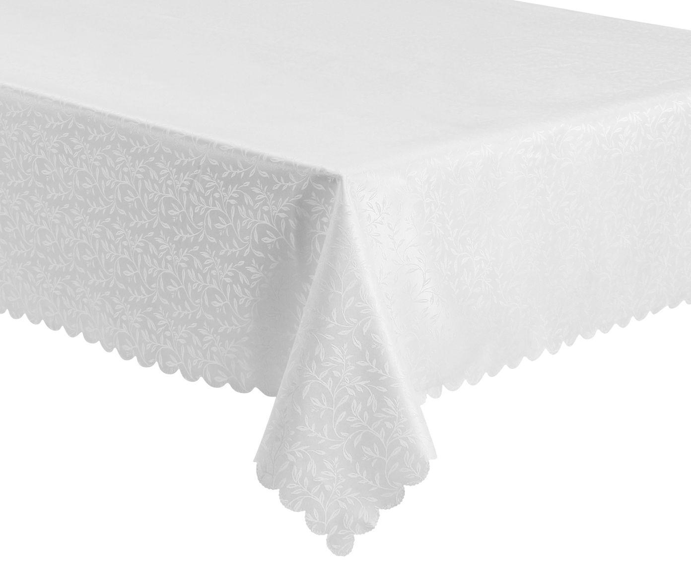 Toalha de Mesa Impermeável Auguri Rami Off White - 160X220cm   Westwing.com.br