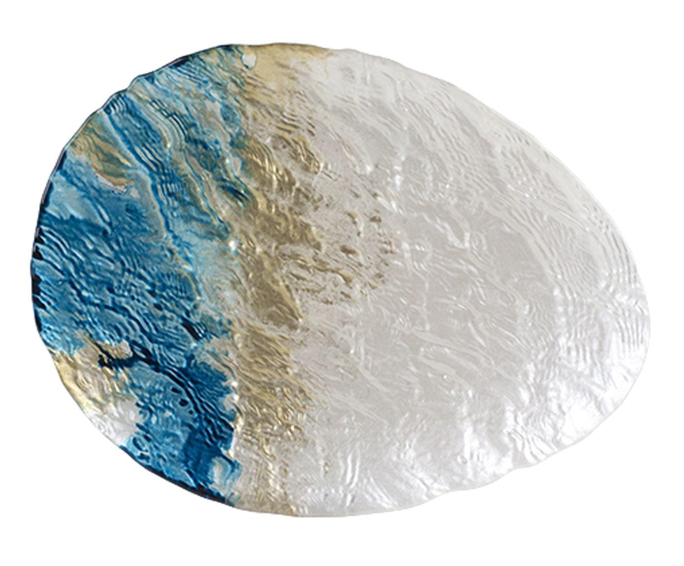 Centro de Mesa Deep Sea Azul e Pérola - 32X3X24cm | Westwing.com.br