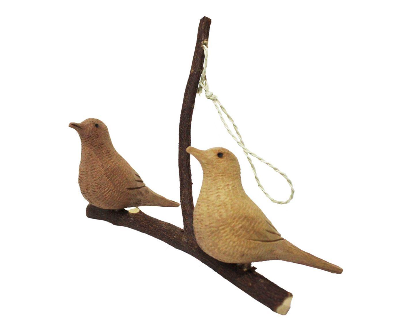 Móbile Galho com 2 Pássaros - 24X15X17cm   Westwing.com.br