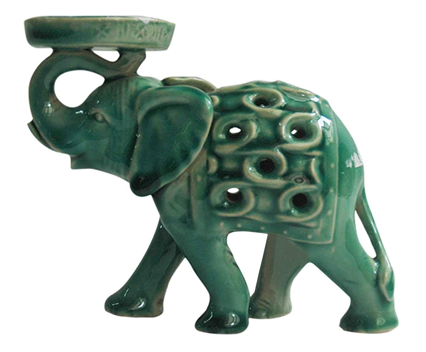 Porta-Vela Elefante Zarina - 15,5X12,5X6cm | Westwing.com.br