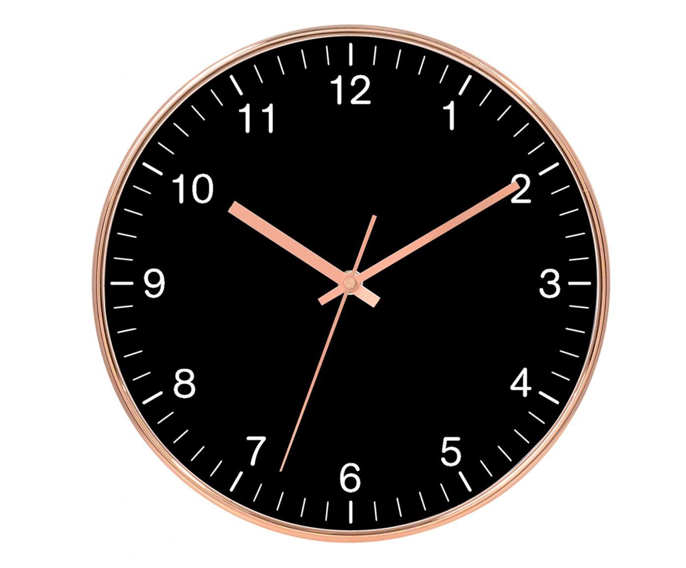 Relógio de Parede Centa Preto - 30cm   Westwing.com.br