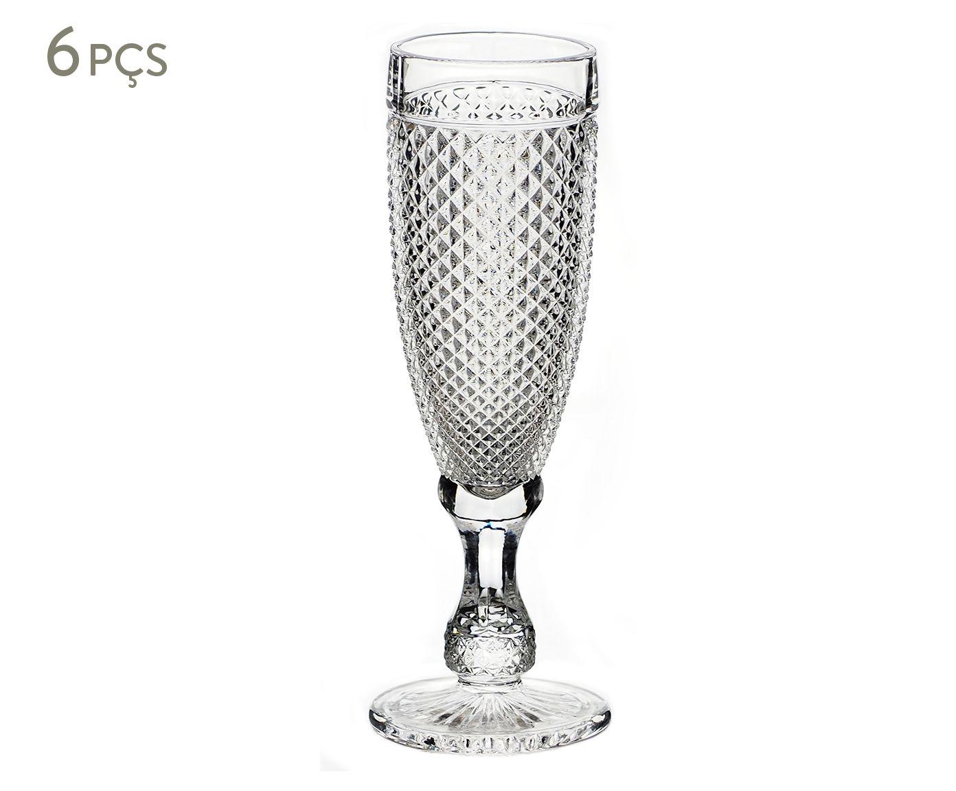 Jogo de Taças para Champagne Trance Transparente - 160ml | Westwing.com.br