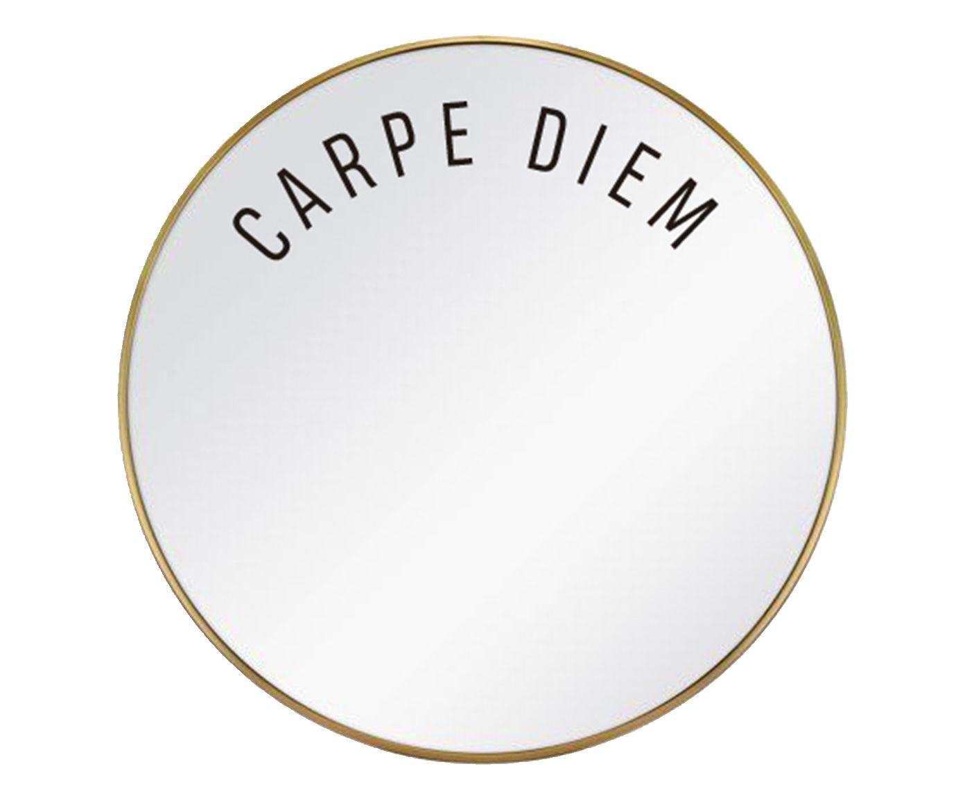 Espelho Carpe Diem Dourado - 60cm   Westwing.com.br