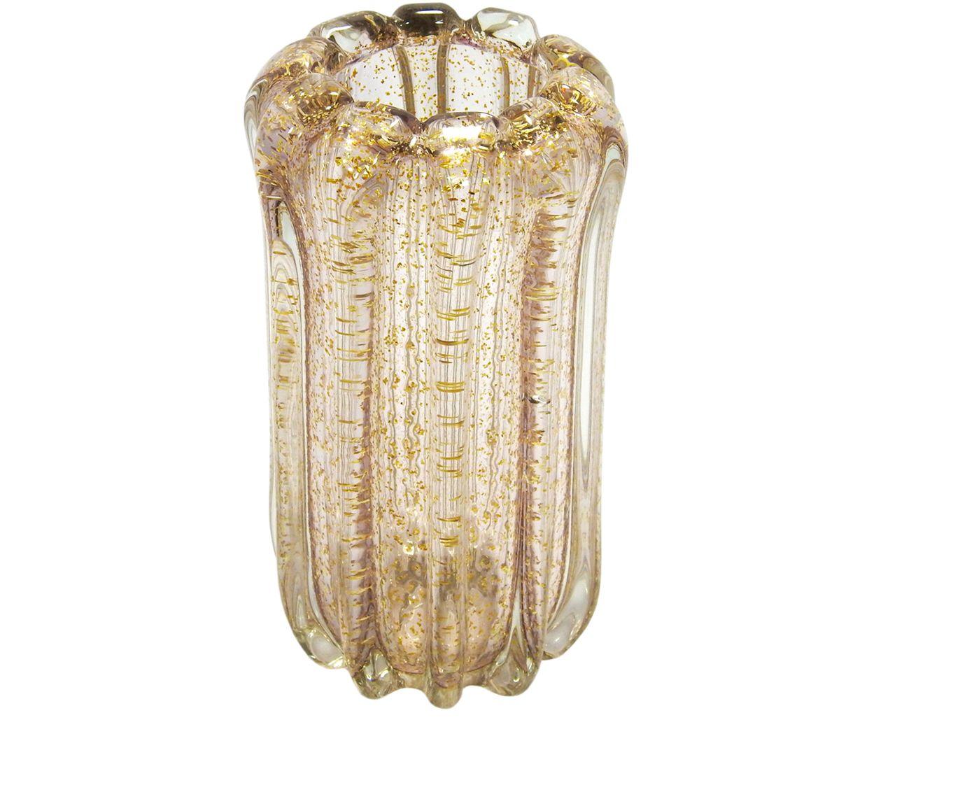 Vaso Aksaray Rosa e Dourado - 27X13cm | Westwing.com.br