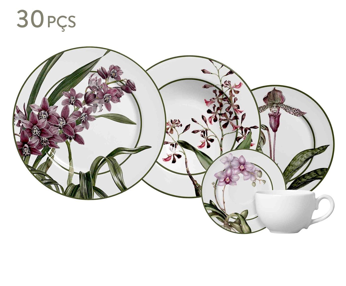 Jogo de Jantar Orquídea - 06 Pessoas | Westwing.com.br