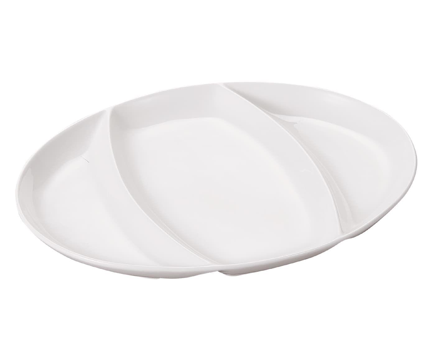 Petisqueira em Porcelana Aimable Branca - 27,8X2,4X20,6cm | Westwing.com.br